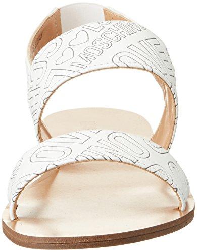 Love Moschino Damen Offene Sandalen Weiß (White)
