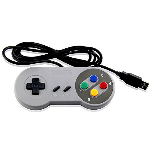 USB Classic Controller Colorful Gamepad Super NES für PC, Mac, Raspberry, Emulator System-Mario Retro Marke-Generic Game Pad