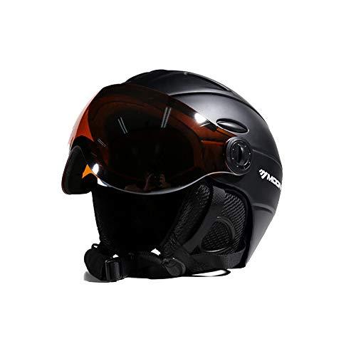 EnzoDate 2-en-1 Visera esquí Snowboard Casco máscara