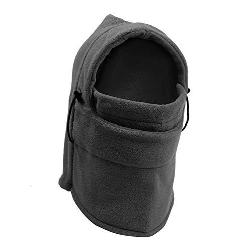 Qianliuk Winter Motorcycle Face Mask Moto Trapper Trooper Hat Windproof Warm Ear Flap Ski Hunting Bomber Hat Cotton&Fleece - Fleece-flap Hat