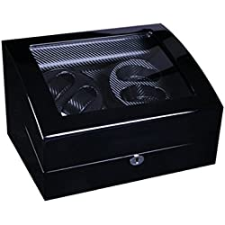 Watch winder Lindberg&Sons Black for 4 self-winding watches and capacity for 5 additional watches UBBB9ORMblbl