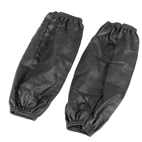 Ecopelle Oversleeve - SODIAL(R) Sport elastico bracciali avambraccio impermeabile Maniche Oversleeve nero