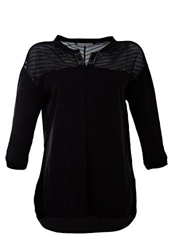 Bluse mit verziertem Ausschnitt Black