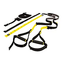 TRX SUSPENSION TRAINER Highest Quality Design & Durability Lightweight & Portable Full Body Workouts, All Levels & All Goals by EWORLD