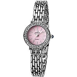 Damen Verschieden Sport Armbanduhr stoßfest Edelstahl Link Mädchen Wasserdicht Uhren Digital Outdoor Armbanduhr Pink