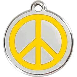 Red Dingo Médaille Chien Peace en émail