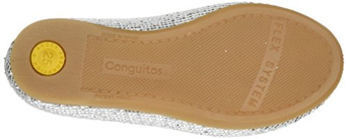 Conguitos Mädchen Hv124062 Ballerinas mit Geschlossener Spitze Silber