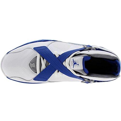 Branco branco Basquete Nike 8 Real Do Dos Jordan Air Colégio Homens Prata Prata Metálico stealth time Sapatos 0 Metálica De wgw7zr4qf