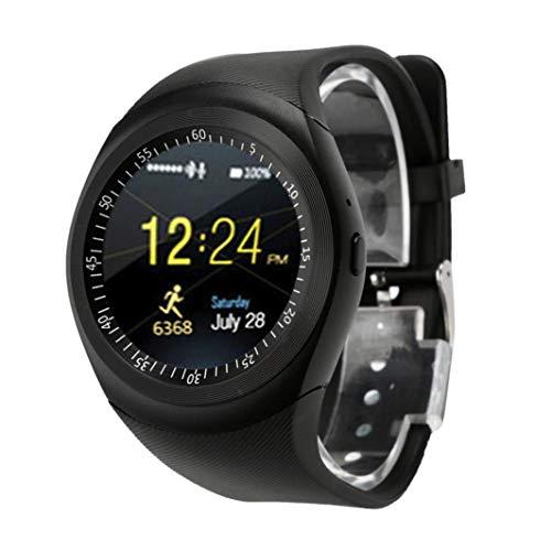 BZLine Bluetooth Smartwatch Uhr Intelligente Armbanduhr Kompatibel mit Samsung, Apple iPhone, Huawei, Sony, LG, HTC, Lenovo, ZTE and Other Cellphones (Schwarz)