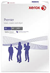 Xerox 003R91713 Rame de 500 feuilles de papier A4 Premier 60 g/m² pour photocopieurs et imprimantes (Blanc)