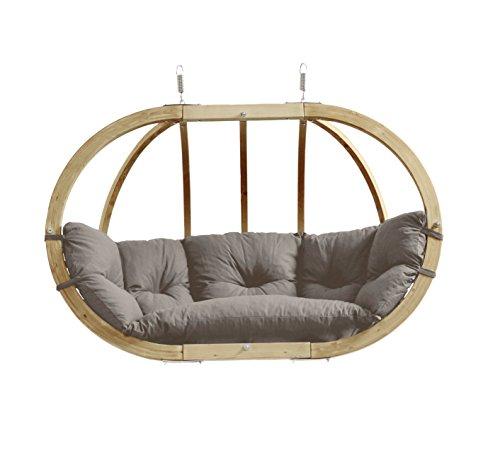 AMAZONAS Hängesessel In Edlem Design Aus FSC Fichtenholz Globo Royal Chair  Taupe Mehrpersonen Bis 200 Kg In Dunkelgrau