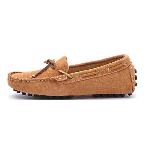 Amurleopard Chaussures Mocassins Escarpin femme cuir mode Kaki