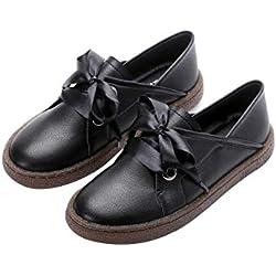 Moquite Mocasín de Mujer, Mocasín Slip-on Casual de Cuero de Mujer Zapatos Planos de Deslizamiento Mocasines de Conducción Mocasín Zapatillas