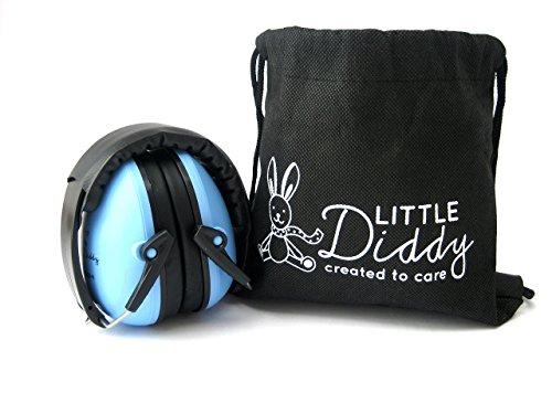 Little Diddy Ear Defenders-Défenseurs de l'oreille. Casques d'écoute antibruit pour les enfants de 1-16 ans / Bébés / enfants, réglables, rembourrage doux, protection auditive. Disponible en bleu et rose