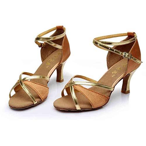 Mosstars Sandales Femme,Mode Escarpins à Talons Hauts Rumba Valse Bal Salle de Bal Chaussures De Danse Latine Salsa Chaussons