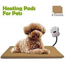 Qomolo Manta Eléctrica para Perros y Gatos, 15W Almohadilla de Calefacción para Mascotas para Cama
