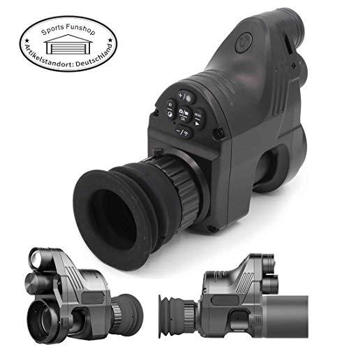 Nachtsicht mit 45mm Adapter Optik Ferngläser Jagd Digital-Nachtsicht-Sichtgerät Nachtsicht Night Vision 1080P 4X~14x Zoom 200m Reichweite NV-Bereich 850nm IR für Gewehr WiFi Andiord/iOS APP