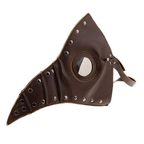 Fenteer Pestmaske Schnabelmaske Steampunk PU Leder Doctor Costume Mask Doktor Vögel Maske für Männer ()