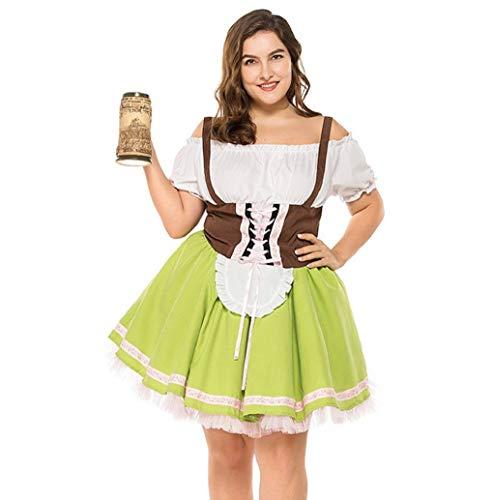 Custom Kostüm Jazz - Damen Oktoberfest Dirndl, 2019 Frau Sexy kostüme Oktoberfest Karneval von der Schulter Kostüm Traditionelles Kleid Halloween Cosplay Trachtenkleid Maid Kostüm Kurzarm Mini Kleider Große Größe TWBB