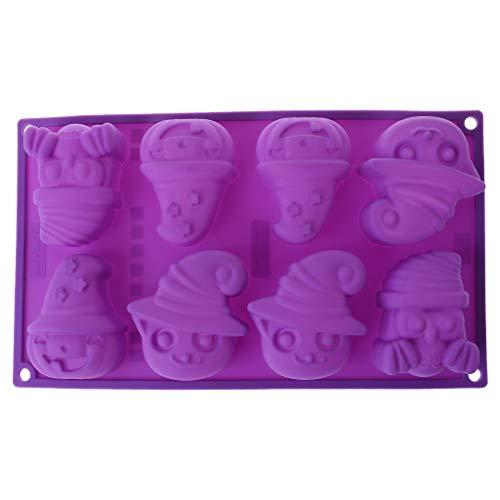 FlYHIGH Molde para Hornear Galletas con jabón de Silicona y Caramelo de Silicona con Calabaza Fantasma