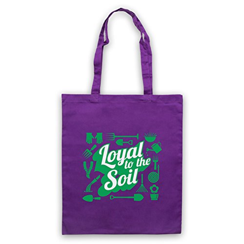 Fedele Allo Slogan Di Giardinaggio Del Terreno Umhangetaschen Violett