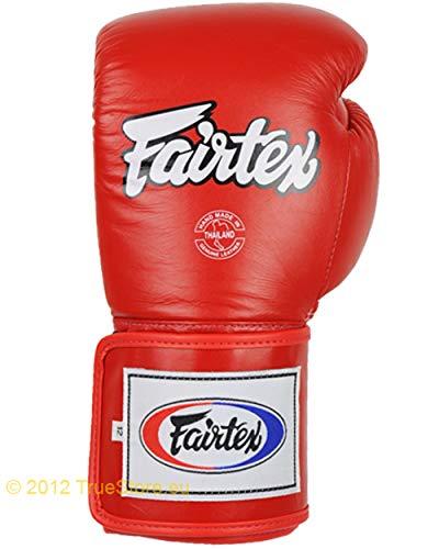 Fairtex Leder Boxhandschuh Super Sparring (BGV5), rot, 16 Unzen