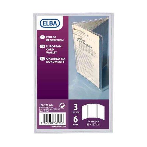 Elba - 100202644 - Etui de Protection pour Carte Grise PVC 8,3x12,7cm Incolore