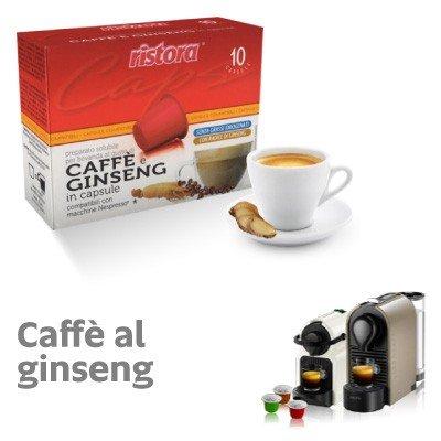 Nespresso compatibili 120 capsule caffè e ginseng ristora