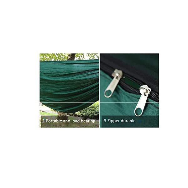 MALY Outdoor Camping Thickened Anti-Mosquito Hammock Outdoor Leisure Double Camping Tent Swing  Encrypted mosquito net design, soft and encrypted net yarn, firm and fine anti-ant pest control, no need to worry about mosquito infestation. Ultra-lightweight design, portable and load-bearing, light and breathable, easy to carry. With high-quality zipper design, it lasts for a long time and is not easy to break. 5