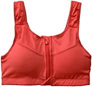 Dress Cici Womens Sports Yoga Bra Zip Front Sports Bra