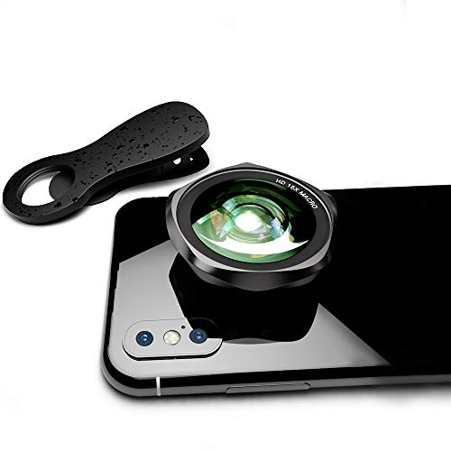 LUXSURE HD Handy Objektiv 15X Macro Objektiv Phone Lens linse für iPhone XS/XS Max/XR/X/ 8 Plus/ 8/7 Plus/ 7/6/ iPad/Samsung Galaxy Note 9/ S9/ S9+/ S8/ Note 8/ S7/ S6 Laptops