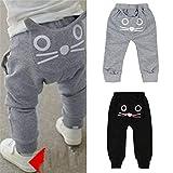 Jinxuny Baby-Hose für Kinder im Alter von 0-4 Jahren, niedliche Hosen für Kinder, weich und bequem für Kleinkinder schwarz