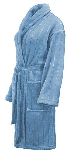 Brandsseller Bademantel Morgenmantel Saunamantel für Damen & Herren - Größe: S - Farbe: Hellblau