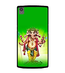 Printtech One Plus X Back Cover Lord God Ganesha Printed Case
