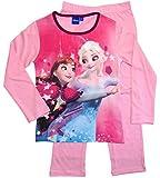 Frozen - Die Eiskönigin Mädchen Schlafanzug ELSA Pyjama (Rosa/Fuchsia, 128)