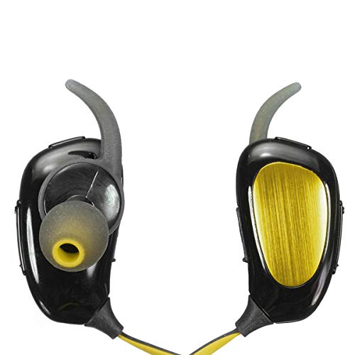 CSR Wireless Bluetooth V4.1 Stereo In-Ear Headset Kopfhörer Kopfhörer Geräuschunterdrückung gelb