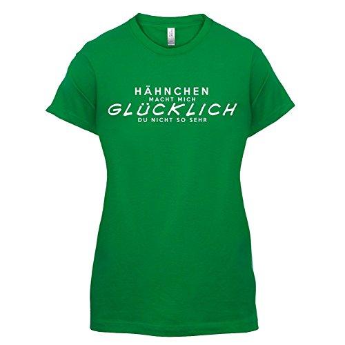 Hähnchen macht mich glücklich - Damen T-Shirt - 14 Farben Grün