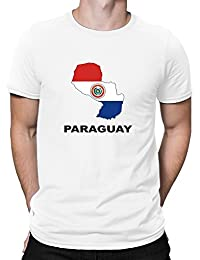 Teeburon Paraguay Country Map Color Camiseta