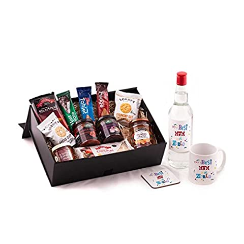 Best Mum in the World Vodka Hamper - With vodka. Great Birthday or Christmas present idea for your Mum from Scotland. Includes quality vodka, and mug and coaster set - Best Mum in The
