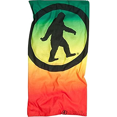 Outdoor Technology Arctic Yowie Face Mask with Fleece - Rasta Fade