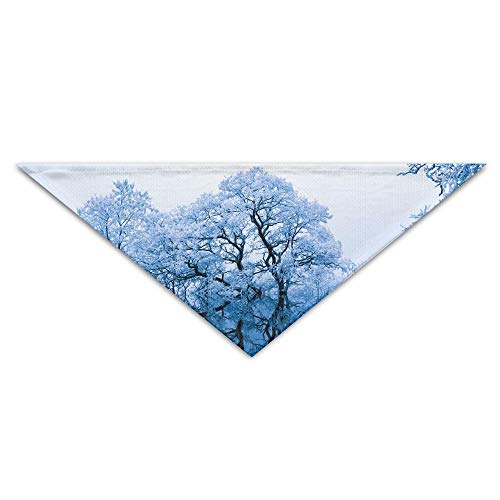 dfegyfr Snow-White Forest In Winter Triangle Pet Scarf Dog Bandana Pet Collars for Dog Cat - Birthday