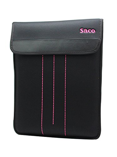 Saco Top Open Portfolio Laptop Sleeve Bag Case Cover with accessories adapter pocket for Lenovo Ideapad Flex 10 (59-420157) Netbook - 11.6 inch - Pink  available at amazon for Rs.500