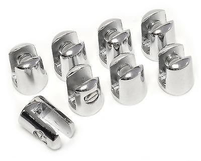 PACK OF 8 Small supports for glass SHELF 4-6mm thick - CHROME plated produced by Hafele - quick delivery from UK.