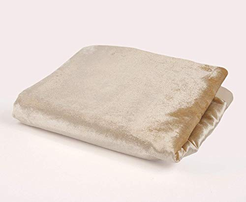 Lucido velluto buttare tappeto coperta adatto per letto, divano, poltrone, velluto, champagne gold, table runner (34cm x 274cm)