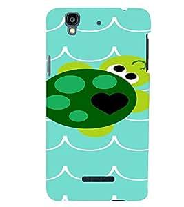 PrintVisa Cute Turtle Design 3D Hard Polycarbonate Designer Back Case Cover for YU Yurekha