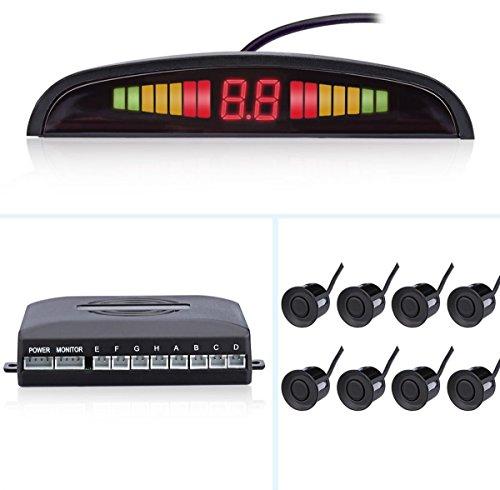 FuriAuto - Sistema de ayuda al aparcamiento con pantalla LCD y 8 sensores de...