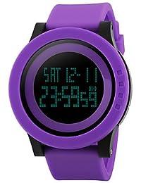 Lemumu 1142Hombres Mujer Ver Deportes Multi - Función Deportes impermeable reloj Relojes electrónicos de 50 metros