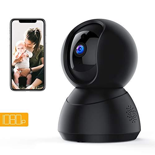 Apeman 1080P WiFi Kamera Home Überwachungskamera IP Kamera WiFi mit Bewegungserkennung Nachtsicht 2 Way Audio Smart Schwenk Home Kamera Baby Monitor unterstützt Remote-Alarm und Mobile App-Steuerung