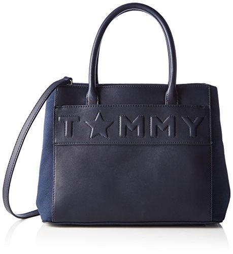 Tommy Hilfiger - Logo Story Tote, Borse a mano Donna Blu (Tommy Navy)