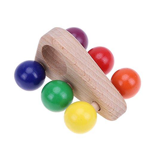 Domybest Kinder Holzgreif Spielzeug Push Pull Auto Holz Entwicklungs Baby Spielzeug